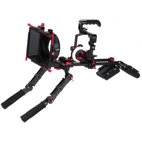 CAME-TV Protective Cage Plus for GH5 with Matte Box, Follow Focus, Handgrip & Shoulder Pad
