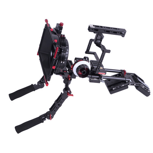 CAME-TV Guardian Cage with Shoulder Mount, Matte Box & Follow Focus for GH5/GH4/a7S Rig