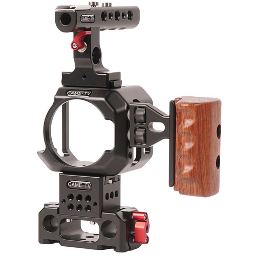 CAME-TV Camera Cage with Baseplate & Top/Side Handles for Blackmagic Micro Cinema Camera