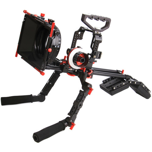 CAME-TV Protective Cage with Matte Box, Follow Focus & Dual Handgrip for GH4
