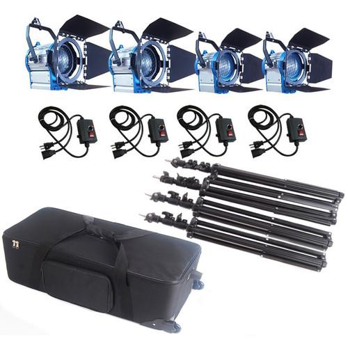CAME-TV Fresnel Tungsten Video Spotlight Four-Light Kit