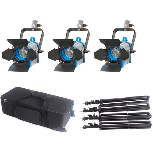 CAME-TV 150W Fresnel Tungsten Video Studio Spot Light (3-Pack)