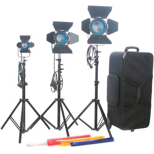 CAME-TV 650W/300W/150W Fresnel Tungsten Light Kit