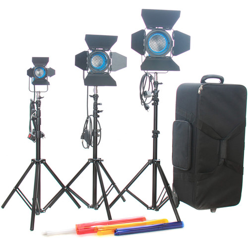 CAME-TV 650W/300W/150W Fresnel Tungsten Light Kit