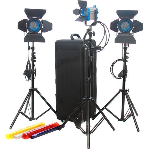 CAME-TV 1 x 150W & 2 x 300W Fresnel Tungsten Light Kit
