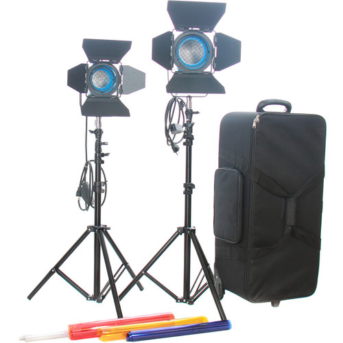 CAME-TV 2-Light Fresnel Tungsten Video Spot Light Kit (1 x 650W and 1 x 300W)