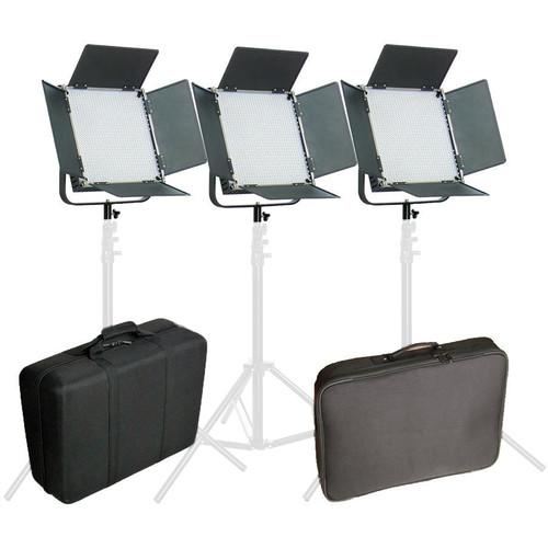 CAME-TV High CRI Digital 1024 Daylight LED 3-Light Kit
