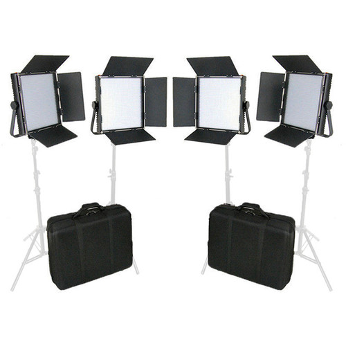 CAME-TV High CRI Digital 1024 Daylight LED 4 Light Kit