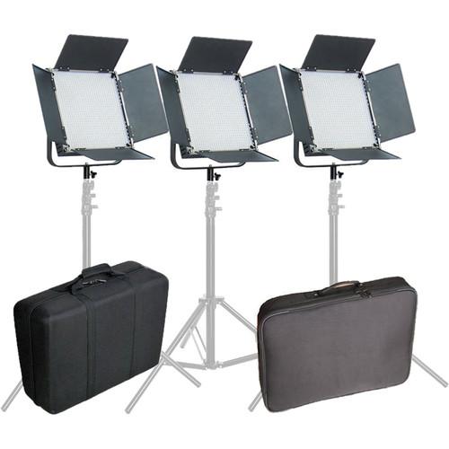 CAME-TV High CRI Digital 1024 Bi-Color LED 3-Light Kit