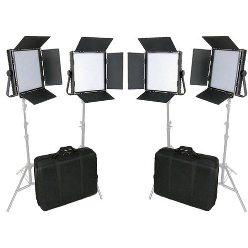 CAME-TV High CRI Digital 1024 Bi-Color LED 4-Light Kit