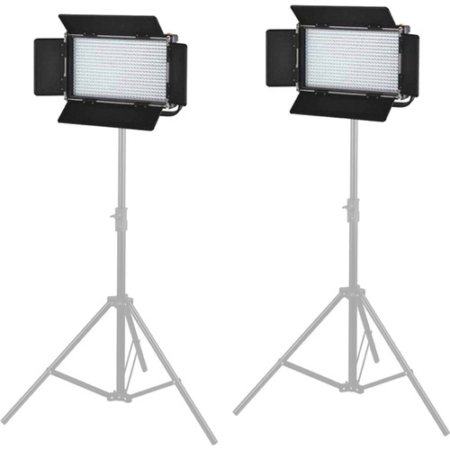 CAME-TV 576 Daylight LED Two Light Kit with V-Mounts
