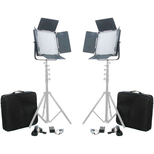 CAME-TV High CRI Digital 900 Daylight LED Two Light Kit