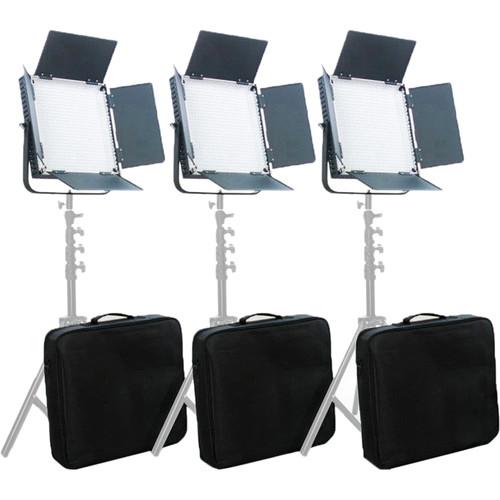 CAME-TV High CRI Digital 900 Daylight LED Three Light Kit