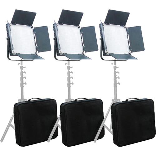 CAME-TV L900 LED Video Daylight 3-Light Studio Broadcast Lighting Kit with Bag