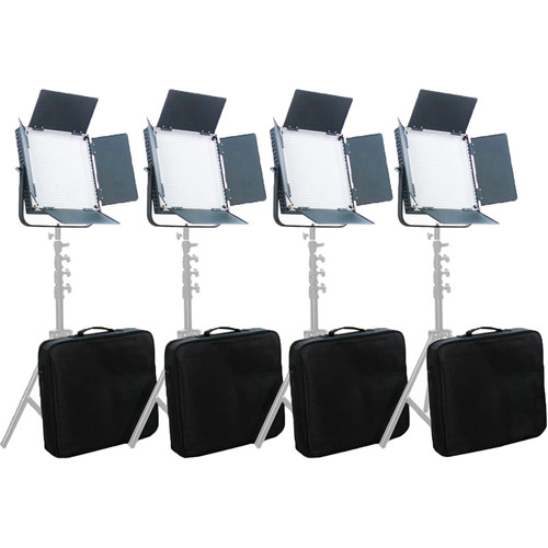 CAME-TV High CRI Digital 900 Daylight LED Four Light Kit