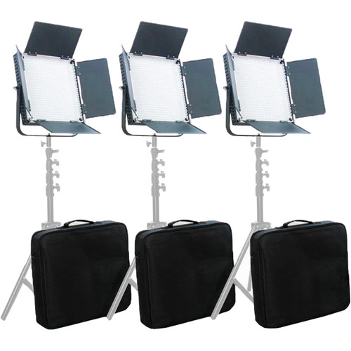 CAME-TV High CRI 900 Bi-Color LED Three Light Kit