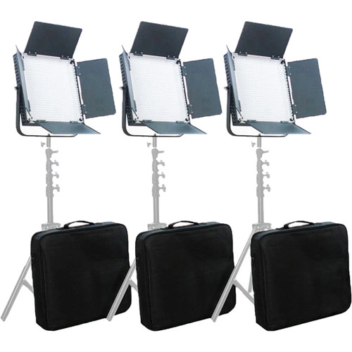 CAME-TV L900 LED Video Bicolor 3-Light Studio Broadcast Lighting Kit with Bag