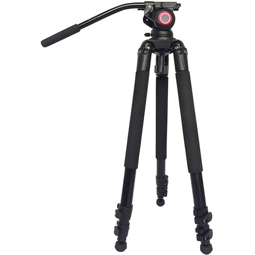CAME-TV Aluminum Video Tripod with Fluid Bowl Head Max Load 55 Lbs. 701A