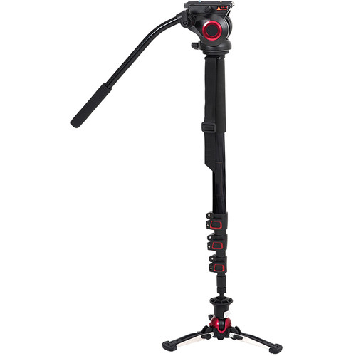 CAME-TV TP705BS Carbon Fiber Monopod with Pivoting and Lockable Foot Stand 705BS