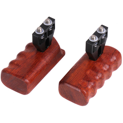CAME-TV Left and Right Wooden Handles for Select Cages (Set of 2)