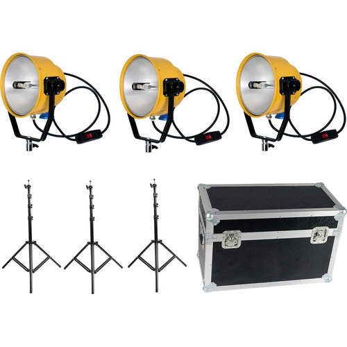 CAME-TV 2000W/220V Yellow Head Continuous Video Studio Photo Light (3-Pack)