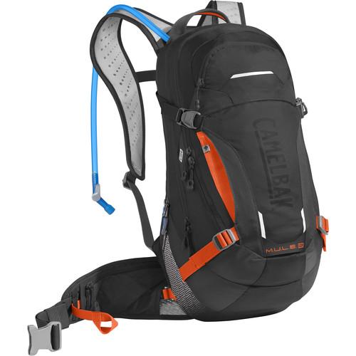 CAMELBAK M.U.L.E. LR 15 Hydration Pack (100 oz, Black / Laser Orange)