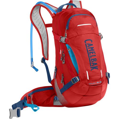 CAMELBAK M.U.L.E. LR 15 Hydration Pack (100 oz, Racing Red / Pitch Blue)