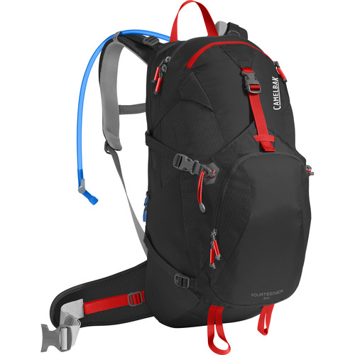 CAMELBAK Fourteener 24 100 Ounce Men's Hydration Pack (Black / Fiery Red)