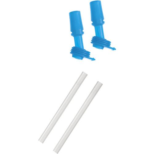 CAMELBAK eddy Kids Bottle Bite Valves and Straws (Ice Blue, 2-Pack)