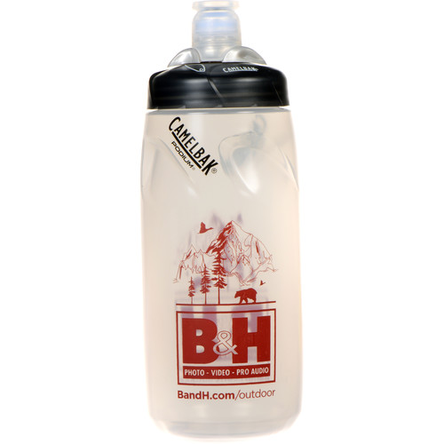 CAMELBAK Podium Sport Water Bottle (21 fl oz, Clear Black)