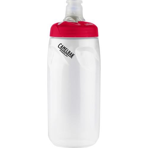CAMELBAK Podium Sport Water Bottle (21 fl oz, Clear Crimson)