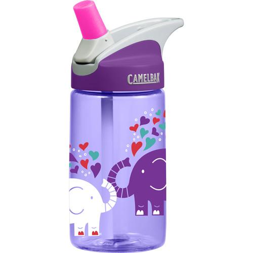 CAMELBAK eddy Kids Water Bottle (12 fl oz, Elephant Love)
