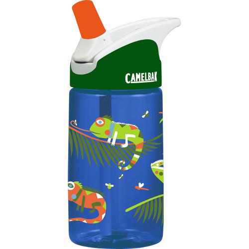 CAMELBAK eddy Kids Water Bottle (12 fl oz, Iguanas)