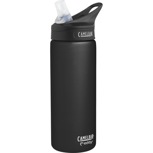 CAMELBAK eddy Vacuum-Insulated Stainless Steel Water Bottle (20 fl oz, Raven)