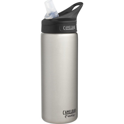 CAMELBAK eddy Vacuum-Insulated Stainless Steel Water Bottle (20 fl oz, Stainless)