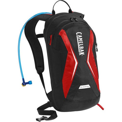 CAMELBAK Blowfish 18L Hydration Backpack with 2L Reservoir (Black/Racing Red)