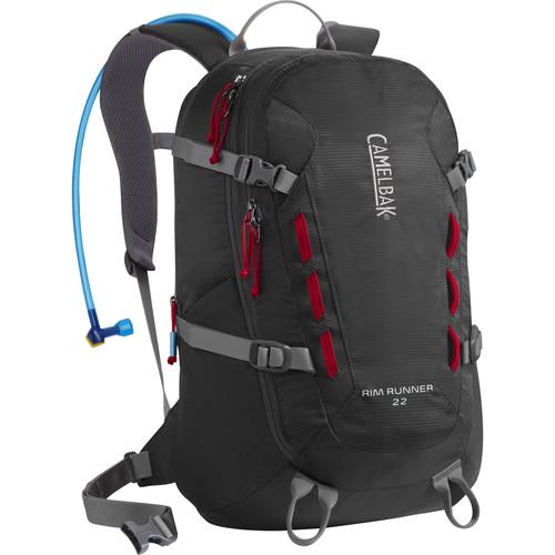 CAMELBAK Rim Runner 22 Backpack with 3L Reservoir (Charcoal/Chili Pepper)