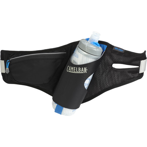 CAMELBAK Delaney Waist Pack with Podium Chill 21 oz Bottle (Black)