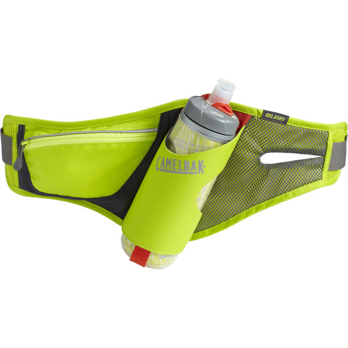 CAMELBAK Delaney Waist Pack with Podium Chill 21 oz Bottle (Lime Punch/Silver)