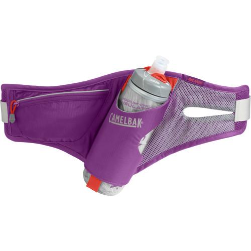 CAMELBAK Delaney Waist Pack with Podium Chill 21 oz Bottle (Purple Cactus Flower/Gunmetal)
