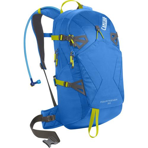 CAMELBAK Fourteener 20 18 L Hydration Backpack with 3L Reservoir (Tahoe Blue/Lime Punch)