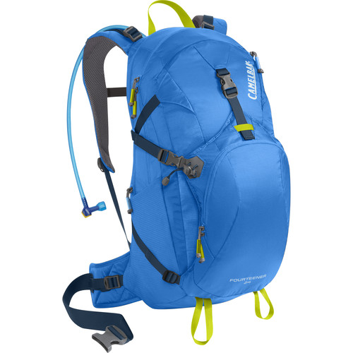 CAMELBAK Fourteener 24 22 L Hydration Backpack with 3L Reservoir (Tahoe Blue/Lime Punch)