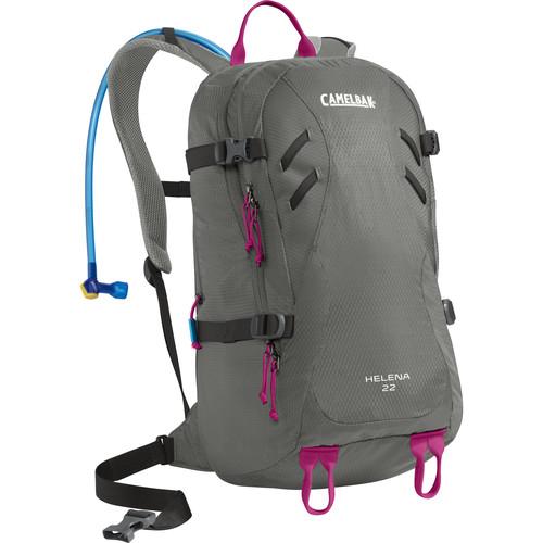 CAMELBAK Helena 22 Women's Backpack with 3L Reservoir (Graphite / Bright Fuchsia)