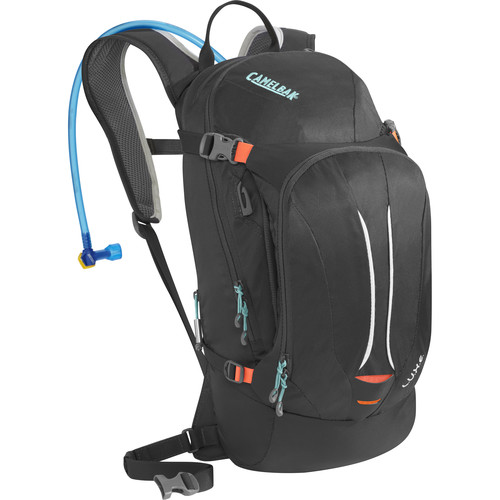 CAMELBAK L.U.X.E. 7L Hydration Backpack with 3L Reservoir (Charcoal/Fiery Coral)