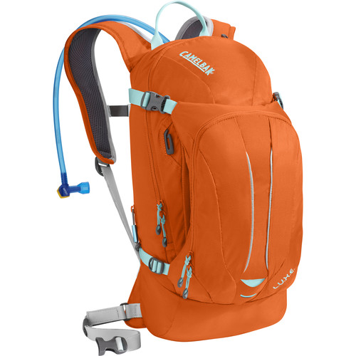 CAMELBAK L.U.X.E. 7L Hydration Backpack with 3L Reservoir (Flame/Aruba Blue)