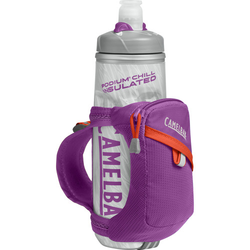 CAMELBAK Quick Grip Chill Water Bottle and Holster (21 fl oz, Purple Cactus Flower)