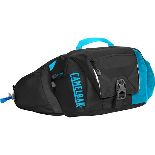 CAMELBAK Palos 4 LR Hydration Waist Pack (50 oz Antidote Reservoir, Black/Atomic Blue)