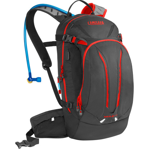 CAMELBAK M.U.L.E. NV 12L Hydration Bike Pack with 3L Reservoir (Charcoal/Ember)