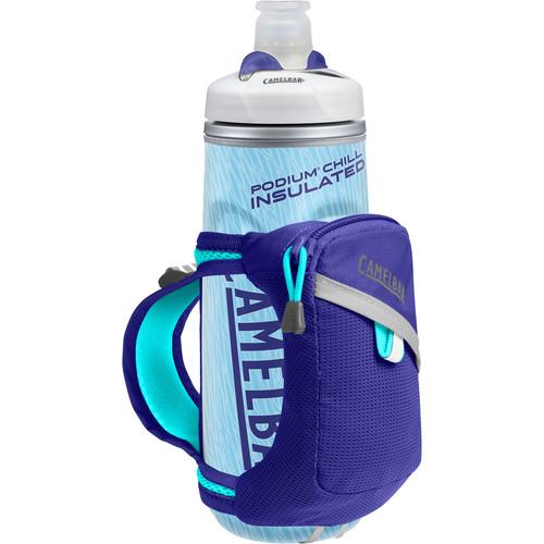 CAMELBAK Quick Grip Chill Water Bottle and Holster (21 fl oz, Deep Amethyst / Cascade)