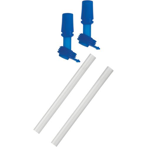 CAMELBAK eddy Kids Bottle Bite Valves and Straws (Blue, 2-Pack)